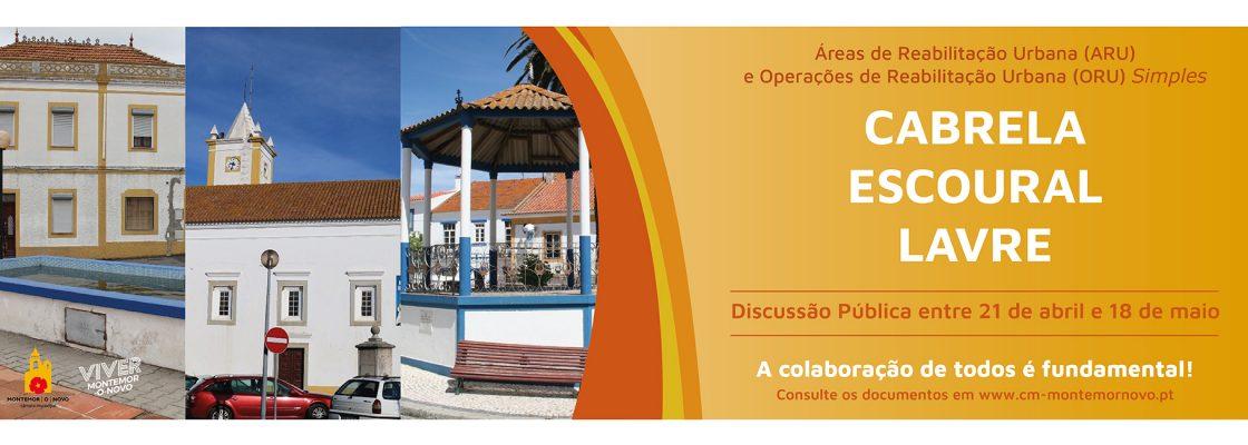 Discussão Pública das ARU / ORU de Cabrela, Escoural e Lavre