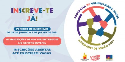 Programa de voluntariado jovem de apoio às atividades de verão